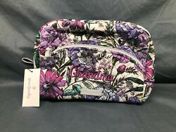 Vera Bradley Iconic Large Cosmetic Lavender Meadow NEW WITH TAGS $24.00