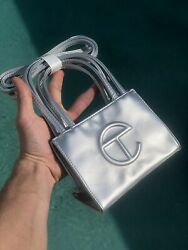 Telfar small silver bag Read The Description $255.00