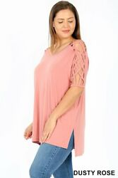 PLUS CRISS CROSS SHOULDER SIDE SPLIT $9.99