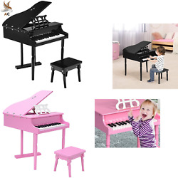 Wooden 30-key Kids Baby Mini Grand Piano Keyboard Child Musical Toy Gifts Toy Us