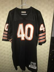Mitchell And Ness Chicago Bears Gale Sayers Throwback Jersey Black Sz 52