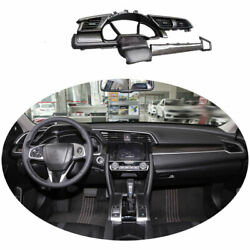 Fit For Honda Civic 16-20 Dry Carbon Fiber Console Dashboard Replace Cover Trim