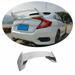 Resin Fiber Tr Rear Spoiler Tail Trunk Lip Wing Bar 1x For Honda Civic 2016-2020