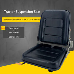 Universal Slidable Tractor Seat Riding Mower Seat Waterproof Pvc Leather Black