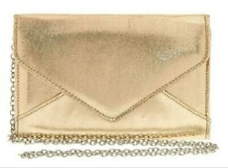 Claire's Metallic Gold Clutch Purse or Crossbody $12.95