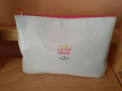 Kate Spade Live Color Fully gwp white cosmetic bag $12.00