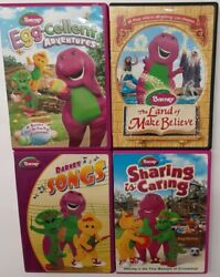 Barney Dvd Lot Of 4 Egg-cellent Land Of Make Believe Songs Sharing And Caring