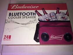 Budweiser Cooler Bag With Bluetooth Speaker And Up To 24 Cans Capacity, Red