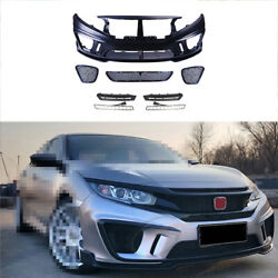 Unpainted Fit For Honda Civic Ms 2016-2020 Front Skid Plate Bumper Board Guard