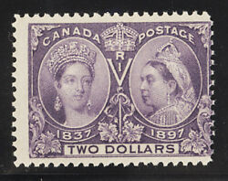 Canada Postage Stamp Catalog No 62, Mint Nh