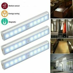 Human Body Infrared Induction Led Night Light Cabinet Closet Stair Wardrobe Lamp