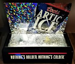 Vintage Coors Artic Ice Lighted Bar Sign - 1995