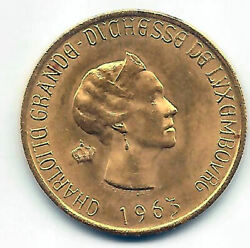 Luxembourg 20 Francs 1963 Queen Charlotte Brussels Centenary Lux. Gold
