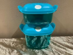 Tupperware New Beautiful Set/2 Heat N Serve Microwave Containers With Vent Lids
