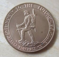 Alaska Purchase Centennial 1867-1967 North To The Future Medal