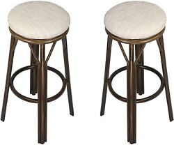 Koreyosh Kitchen Counter Stools With Foot Plate Black Set Of Dining Chair(beige)