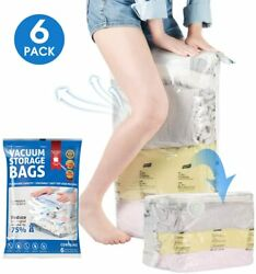 TOPELEK 6Pack Home Space Saver Bags Cube Vacuum Seal Storage Bag Organizer