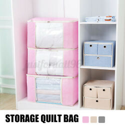 Foldable Clothes Blanket Quilt Closet Sweater Storage Bag Organizer Double