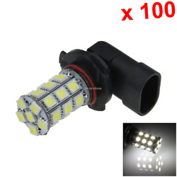 100x White Auto 9005 Head Lamp Front Light 27 Emitters 5050 Smd Led Hb3 H253