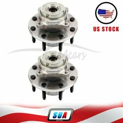 2x 515021 For 1999-2004 Ford Super Duty Pickup 4wd 4x4 Front Wheel Hub Bearing
