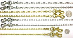 4.8 Mm Ball Bead Gold Tone Clip-on Replacement Chain Shoulder Strap / Handle