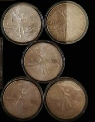 Mexico Libertad Silver Onza Double Die 5 Coin Lot Ddr Ddo 1988 88 1987 1983 1982