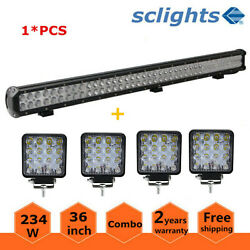 36inch 234w Led Light Bar Flood Spot Combo Offroad 4wd Driving Lamps+4x 18w Pods