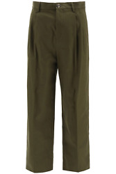 New Loewe Chino Trousers Anagram Embroidery H526331x06 Military Green Authentic