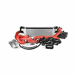 Perrin Front-mount Intercooler Kit For 15-17 Sti - Silver Core Red Piping