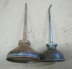 Pair Antique Vintage Small Household Sewing Machine Oil Cans - Eagle - Lot 10-3