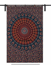 Indian Window Curtains Mandala Wall Room Drapes Hippie Décor Tapestry Hangings