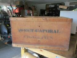 Rare Vintage Sweet Caporal Tobacco Cigarette Wood Crate Box Large Advertise