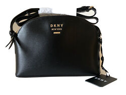 DKNY Madison Dome Crossbody Black Leather Bag MSRP $168 NEW $83.95