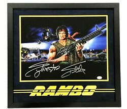 Sylvester Stallone Hand Signed Rambo Autographed 14x11 Photo Framed With Coa