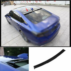 For Honda Accord 10th 2018-2021 Abs Black Painted Roof Boot Spoiler Wing Flap