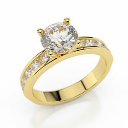 1 3/4 Ct Diamond Engagement Ring Round Cut H/vs1 14k Yellow Gold Size Selectable