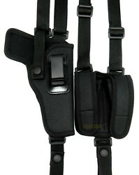 Right Hand Cordura Nylon Shoulder Holster With Mag Pouch For 5 1911 - Choose
