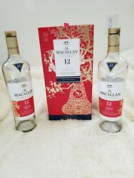 The Macallan 12 Years Double Cask Limited Edition Whisky Box And 2 Empty Bottles