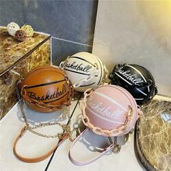 Round Basketball Shoulder Bags Totes Women Acrylic Chain Messenger Handbag Purse $24.99