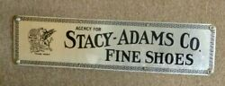 Vintage Stacy Adams Co Fine Shoes Ad Sign Metal Wood Frame Griffin Lion Wall Art