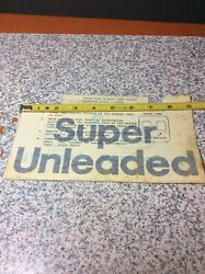 Vintage Mobil Super Unleaded Gas Station Pump Decal For Bennett 2and3000 Series 2