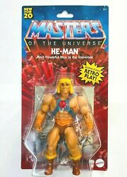 Masters Of The Universe New For 20 He-man Action Figure Retro Play Mattel