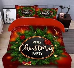 3d Leaf English A116 Christmas Quilt Duvet Cover Xmas Bed Pillowcases Zoe