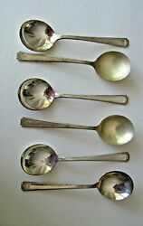 1viceroy Plate Usa Set Of 6 Soup Spoons 6-3/4 Viceroy One National Silver Co.