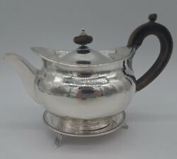 English Sterling Silver Three Piece Part Tea Service Robert Hennell I And...