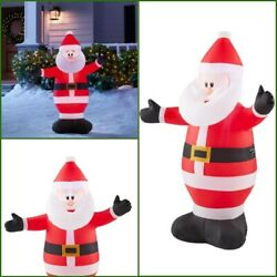 Christmas Indoor Outdoor Decor 3.5 feet Inflatable Santa Claus with LED Lights