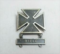 Wwii Us Army Sharpshooter Marksman Badge Rifle Bar Sterling Silver