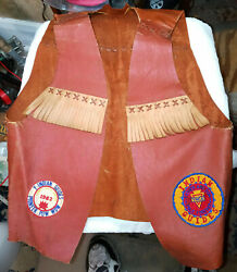 Vintage Ymca Indian Guides Vest Annual Pow Wow Patches 1956 To 1962