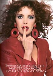 1988 Max Factor Cosmetics Makeup Jaclyn Smith Sexy 6-pg Vintage Print Ad 1980s