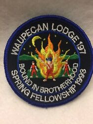 Jab14 Boy Scouts-  Waupecan Lodge 197 - 1993 Spring Fellowship Patch